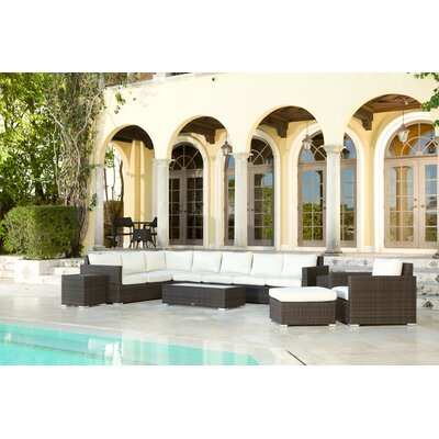 Source Outdoor Lucaya Sectional Sofa - Fabric: Jockey Red at Sears.com