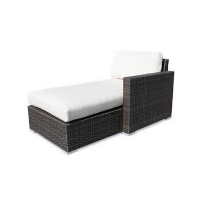 Source Outdoor Lucaya Left Arm Chaise Lounge - Fabric Color: Henna