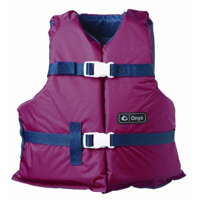 Image of Full Throttle Youth General Purpose Life Vest Size: Youth, Color: Red/Navy (3352-0131)