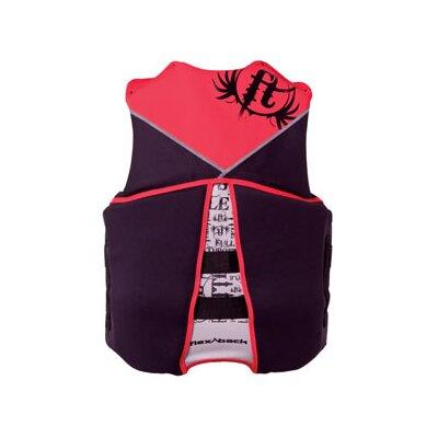 Image of Full Throttle Men'S Neoprene Flex-Back Life Life Vest Color: Red/Black, Size: X-Large (4520RED05)