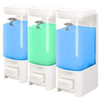 Plastic Shampoo & Soap Dispenser Size: Triple