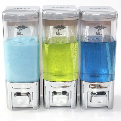 Shampoo & Soap Dispenser Size: Triple