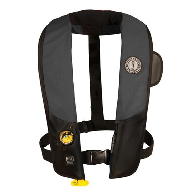 Cheap Mustang Survival Deluxe Auto Hydrostatic Inflatable PFD with Sailing Harness Color: Black / Carbon (MD3184-U-BK/CR)