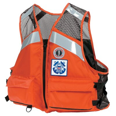 Cheap Mustang Survival Industrial Mesh Type III Flotation Vest Size: Small-Medium (MV1254T1-S/M-OR)