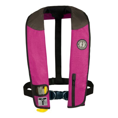 Cheap Mustang Survival Deluxe Auto Hydrostatic Inflatable PFD with Sailing Harness Color: Pink / Black (MD3184-U-PK/BK)
