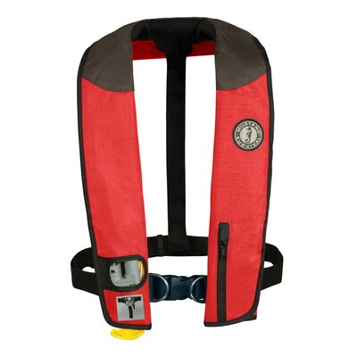 Cheap Mustang Survival Deluxe Auto Hydrostatic Inflatable PFD with Sailing Harness Color: Red / Black (MD3184-U-RD/BK)