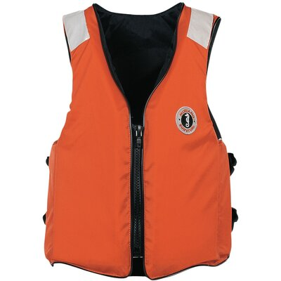 Cheap Mustang Survival Classic Industrial Type III Flotation Vest Size: Small (MV3106T2-S-OR)
