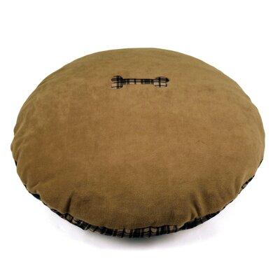 40 Round Fleece & Flannel Pet Bed Color: Burgundy