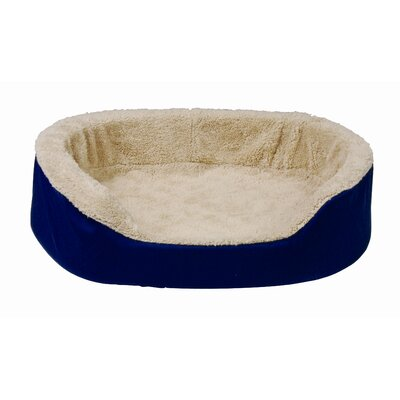 Oval Pet Bed Color: Brown