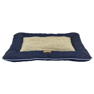 Good Dog Denim Pillow Color: Blue