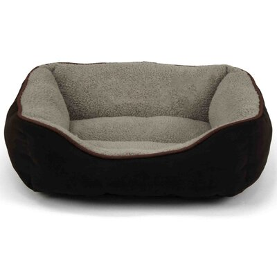 Faux Suede Bolster Color: Brown