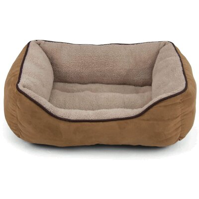 Faux Suede Bolster Color: Tan