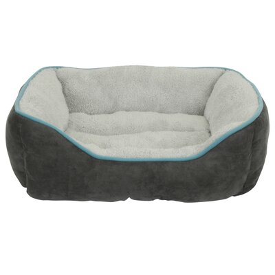Faux Suede Bolster Color: Gray