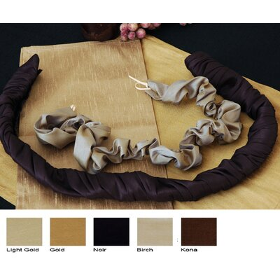 Luscious Silk Lamp Cord Cover Color: Noir