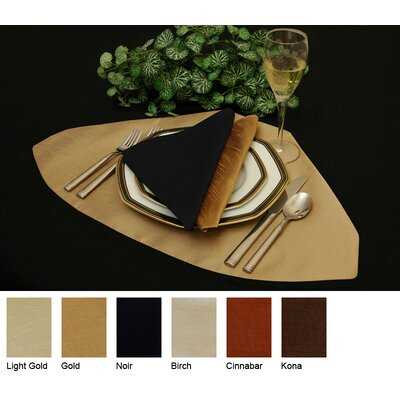Luscious Silk Reversible Wedge Placemat (set Of 4) Color-gold