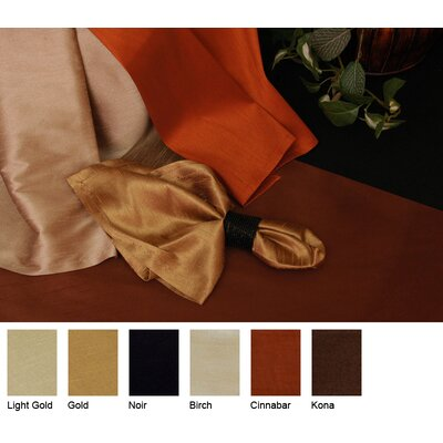 Luscious Silk Reversible Square Table Topper Color-cinnabar  Size-48 X 48
