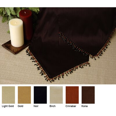 Luscious Silk Reversible Table Runner Size-15 X 72  Color-gold