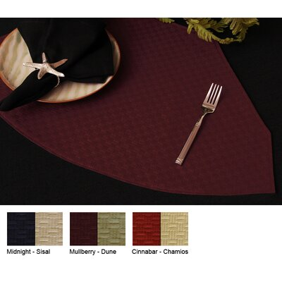 Wicker Reversible Wedge Placemat (set Of 4) Color-midnight / Sisal