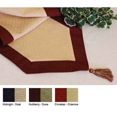 Wicker Reversible Table Runner Size-15 X 72  Color-mulberry / Dune