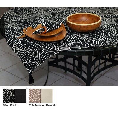 Tropical Reversible Square Table Topper Color-cobblestone / Natural  Size-54 X 54