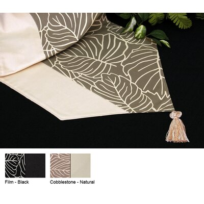 Tropical Reversible Table Runner Color-cobblestone / Natural  Size-15 X 96