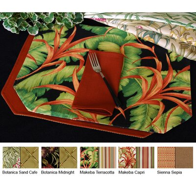 Pacific Table Linens Outdoor Reversible Placemat (Set of 2) - Color: Botanica Sand Cafe at Sears.com