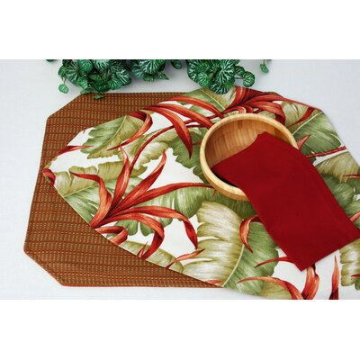Pacific Table Linens Outdoor Reversible Wedge Placemat (Set of 2) - Color: Botanica Sand Cafe at Sears.com