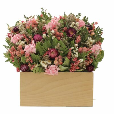 Berry Garden Hydrangea Floral Arrangements in Planter