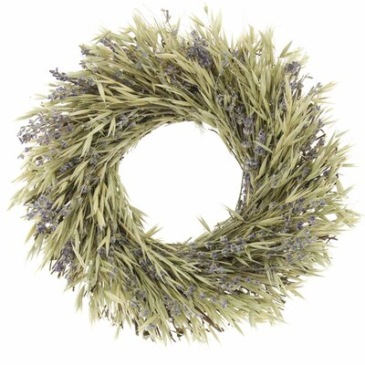 Natural Oats Wreath Size: 10 H x 10 W x 2 D