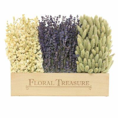 Field Wooden Tabletop Floral Arrangement