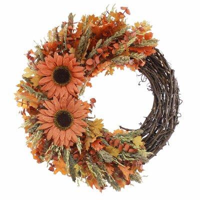"""Autumn Sunflower 22"""" Wreath 228938"""