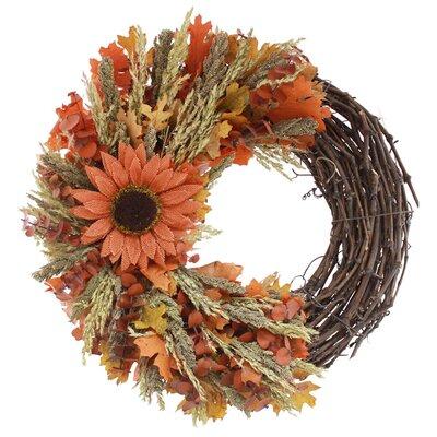 """Autumn Sunflower 18"""" Wreath 188938"""