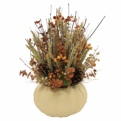 Autumn Foliage Centerpiece in Decorative Vase