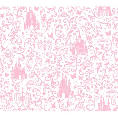 Walt Disney Kids II 33' x 20.5 Small Scroll with Castles Wallpaper