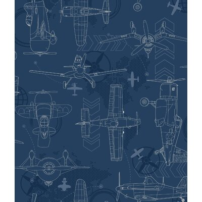 Walt Disney Kids II Blueprint Planes 33' x 20.5 Wallpaper