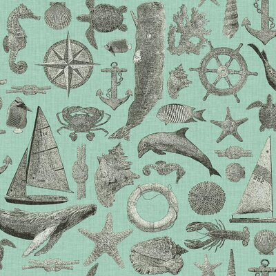 Nautical Living Maritime 33' x 20.5 Scenic Wallpaper