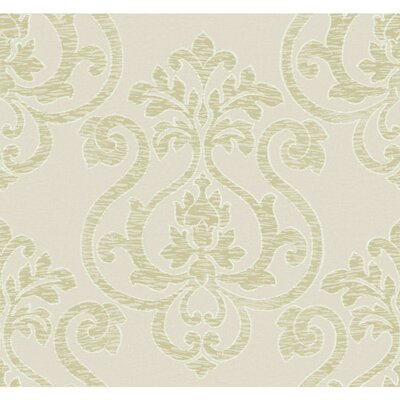 Glam Large Medallion 27' x 27 Damask 3D Embossed Wallpaper