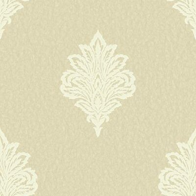 Shimmering Topaz 33' x 20.5 Damask Wallpaper