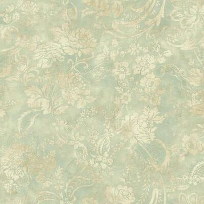 Shimmering Topaz 27' x 27 Floral and Botanical Wallpaper