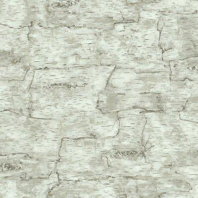 Natural Elements Birch Bark 33' x 20.5 Geometric Wallpaper
