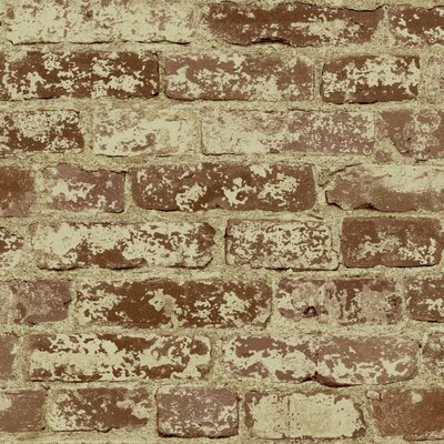 Natural Elements Stuccoed 33' x 20.5 Brick Wallpaper