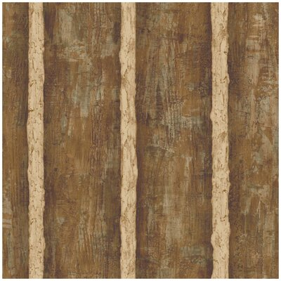 Natural Elements Log Sidewall 33' x 20.5 Stripes Wallpaper