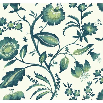 Ashford Tropics Watercolor Jacobean 27' x 27 Wallpaper Roll