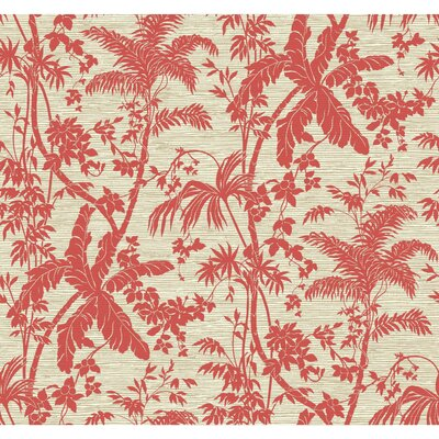 Ashford Tropics Palm Shadow 27' x 27Floral and Botanical Wallpaper