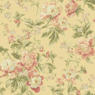 Waverly Forever Yours 33' x 20.5 Floral and Botanical 3D Embossed Wallpaper