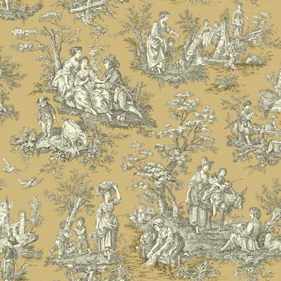 Waverly Country Life 33' x 20.5 Toile Wallpaper