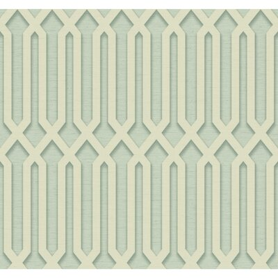 Oriana 27' x 27 Trellis 3D Embossed Roll Wallpaper