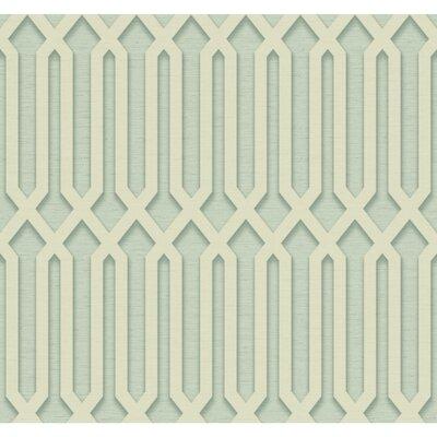 Oriana 27' x 27 Trellis 3D Embossed Roll Wallpaper