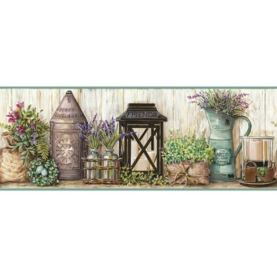 Country Keepsakes Garden 15' x 9 Floral and Botanical Border Wallpaper