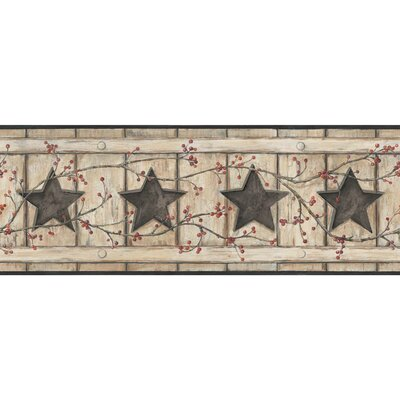 Country Keepsakes Country Cutout Star 15' x 9 Wood Border Wallpaper